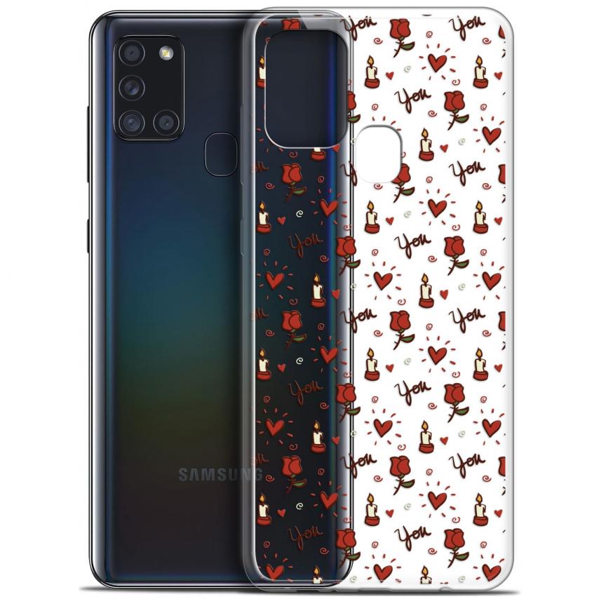 "Carcasa Gel Extra Fina Samsung Galaxy A21S (6.5"") Love Bougies et Roses"
