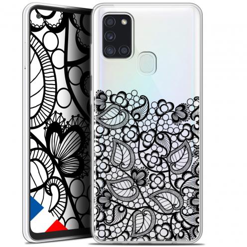 """Carcasa Gel Extra Fina Samsung Galaxy A21S (6.5"""") Spring Bas dentelle Noir"""