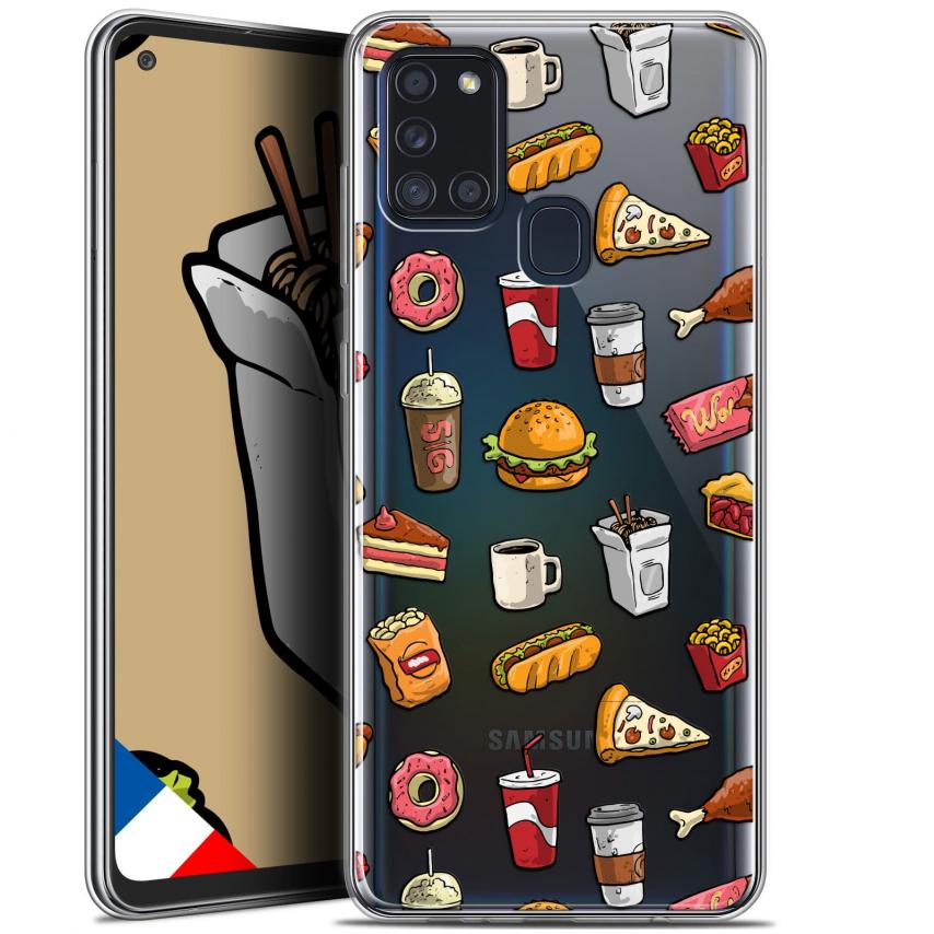 """Carcasa Gel Extra Fina Samsung Galaxy A21S (6.5"""") Foodie Fast Food"""