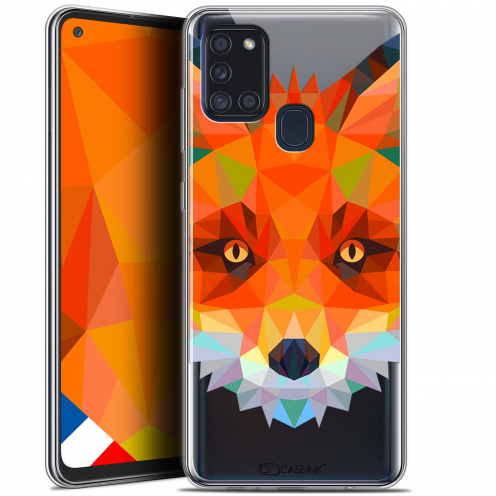 "Carcasa Gel Extra Fina Samsung Galaxy A21S (6.5"") Polygon Animals Zorro"