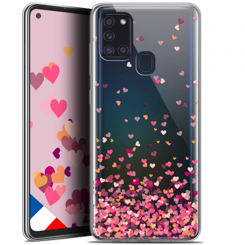 "Carcasa Gel Extra Fina Samsung Galaxy A21S (6.5"") Sweetie Heart Flakes"