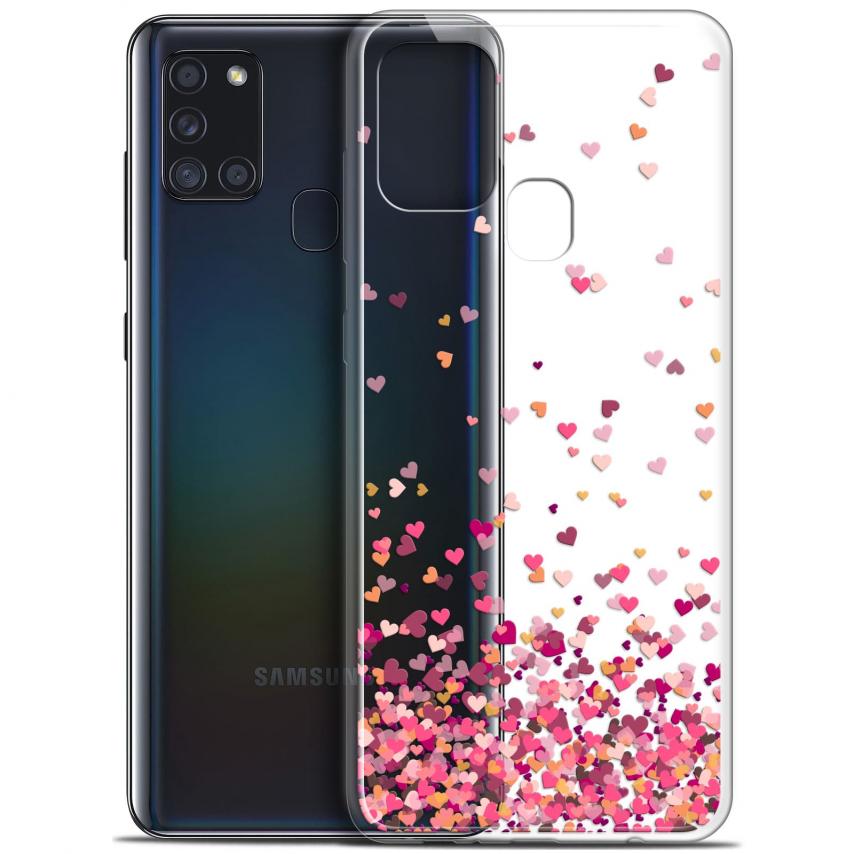 "Carcasa Gel Extra Fina Samsung Galaxy A21S (6.5"") Sweetie Heart Flakes"