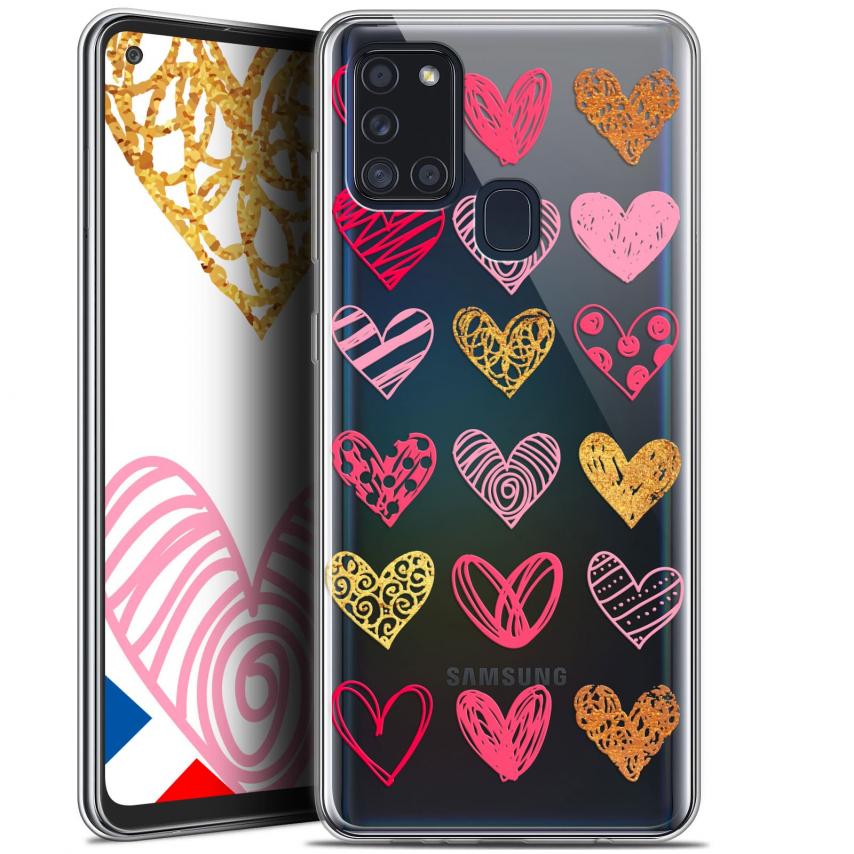 "Carcasa Gel Extra Fina Samsung Galaxy A21S (6.5"") Sweetie Doodling Hearts"