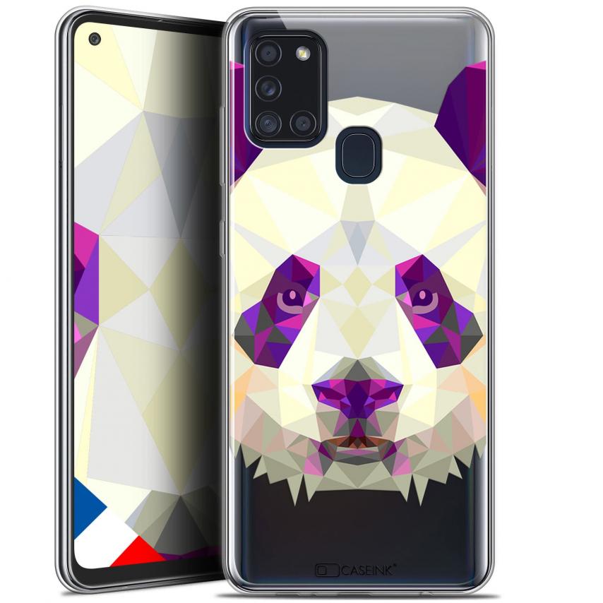 "Carcasa Gel Extra Fina Samsung Galaxy A21S (6.5"") Polygon Animals Panda"