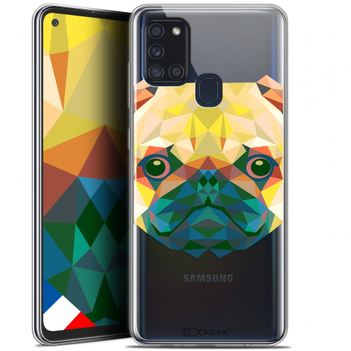 "Carcasa Gel Extra Fina Samsung Galaxy A21S (6.5"") Polygon Animals Perro"
