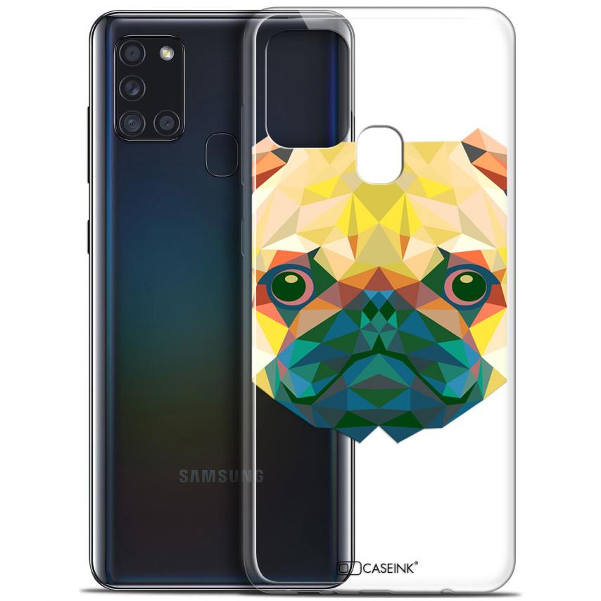 "Carcasa Gel Extra Fina Samsung Galaxy A21S (6.5"") Polygon Animals Perro"