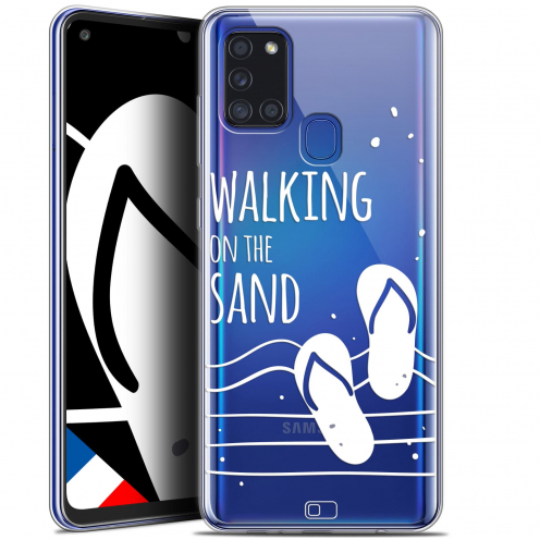 "Carcasa Gel Extra Fina Samsung Galaxy A21S (6.5"") Summer Walking on the Sand"