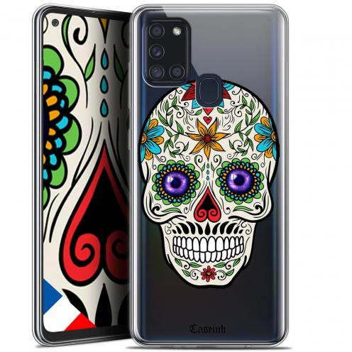"Carcasa Gel Extra Fina Samsung Galaxy A21S (6.5"") Skull Maria's Flower"