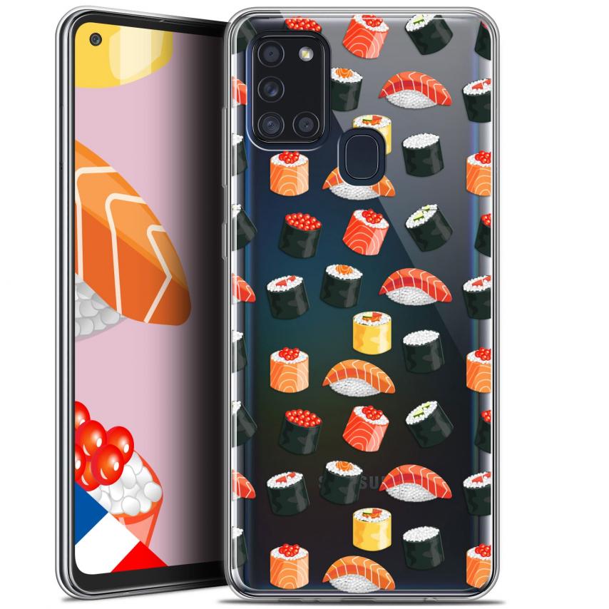 """Carcasa Gel Extra Fina Samsung Galaxy A21S (6.5"""") Foodie Sushi"""