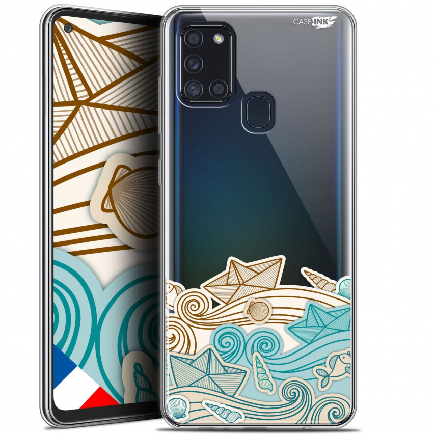 "Carcasa Gel Extra Fina Samsung Galaxy A21S (6.5"") Design Bateau de Papier"