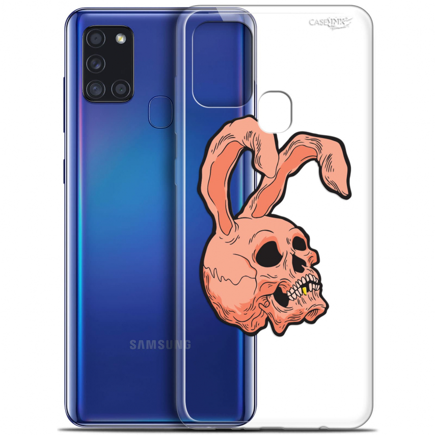 """Carcasa Gel Extra Fina Samsung Galaxy A21S (6.5"""") Design Rabbit Skull"""