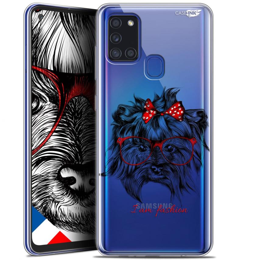 "Carcasa Gel Extra Fina Samsung Galaxy A21S (6.5"") Design Fashion Dog"
