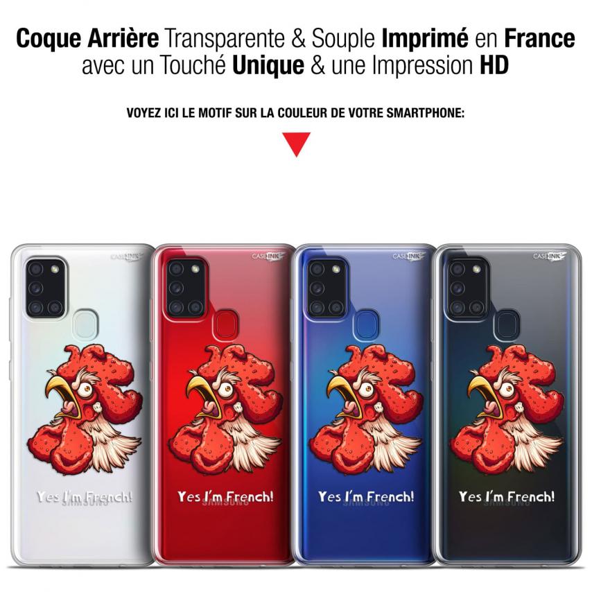 """Carcasa Gel Extra Fina Samsung Galaxy A21S (6.5"""") Design I'm French Coq"""