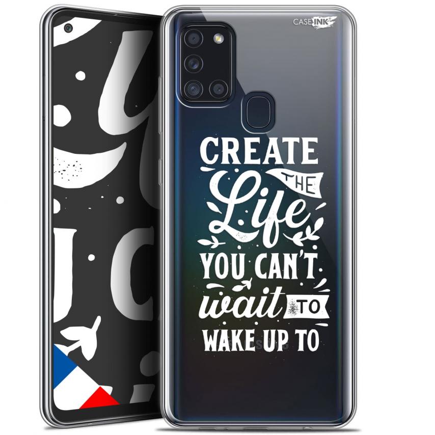 "Carcasa Gel Extra Fina Samsung Galaxy A21S (6.5"") Design Wake Up Your Life"