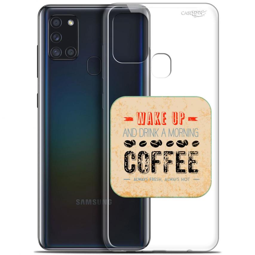 "Carcasa Gel Extra Fina Samsung Galaxy A21S (6.5"") Design Wake Up With Coffee"