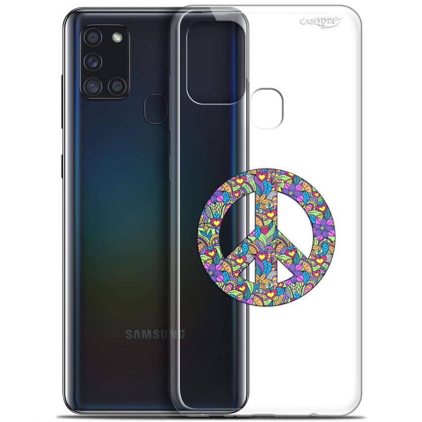 "Carcasa Gel Extra Fina Samsung Galaxy A21S (6.5"") Design Peace And Love"