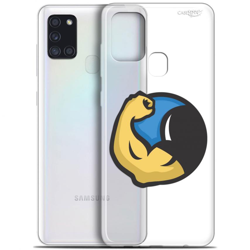 "Carcasa Gel Extra Fina Samsung Galaxy A21S (6.5"") Design Monsieur Muscle"