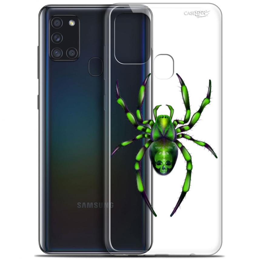 "Carcasa Gel Extra Fina Samsung Galaxy A21S (6.5"") Design Arraignée Verte"