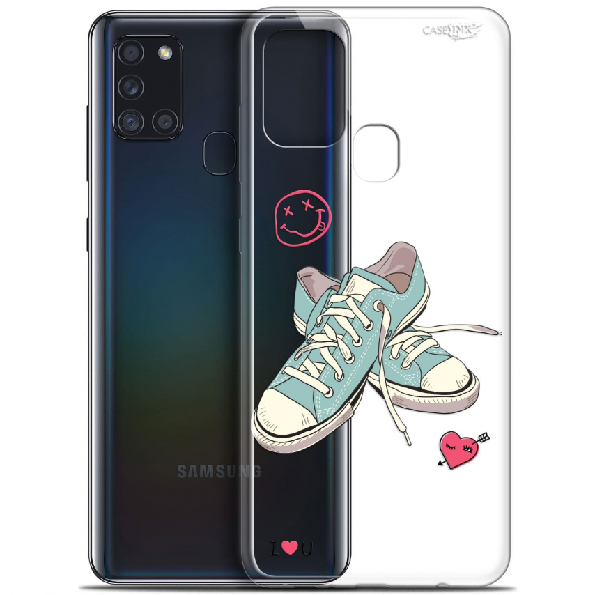 """Carcasa Gel Extra Fina Samsung Galaxy A21S (6.5"""") Design Mes Sneakers d'Amour"""