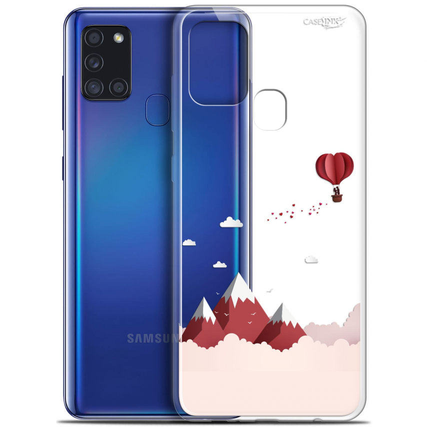 "Carcasa Gel Extra Fina Samsung Galaxy A21S (6.5"") Design Montagne En Montgolfière"