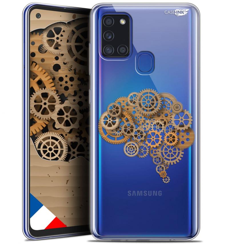 "Carcasa Gel Extra Fina Samsung Galaxy A21S (6.5"") Design Mécanismes du Cerveau"