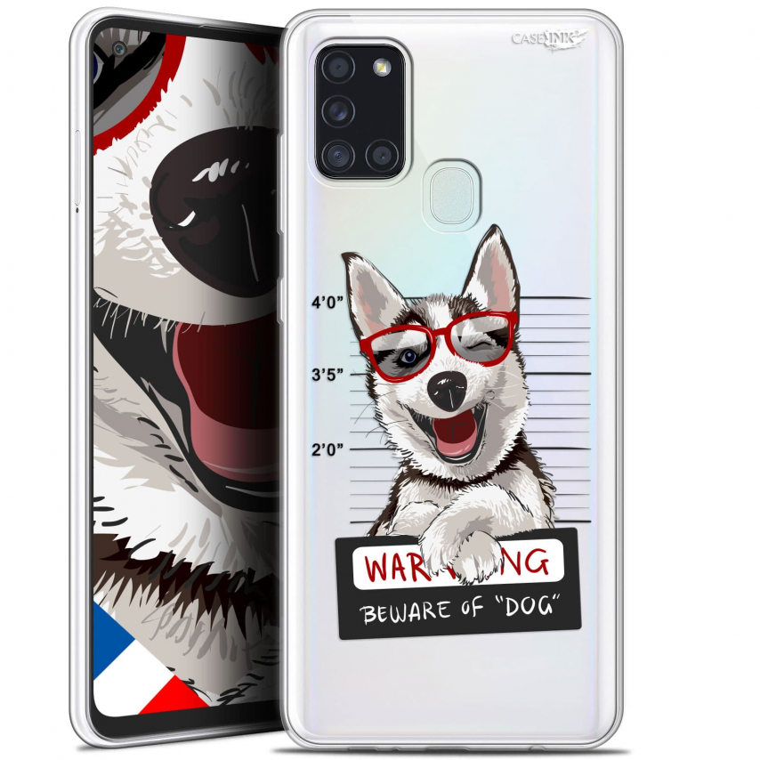 "Carcasa Gel Extra Fina Samsung Galaxy A21S (6.5"") Design Beware The Husky Dog"