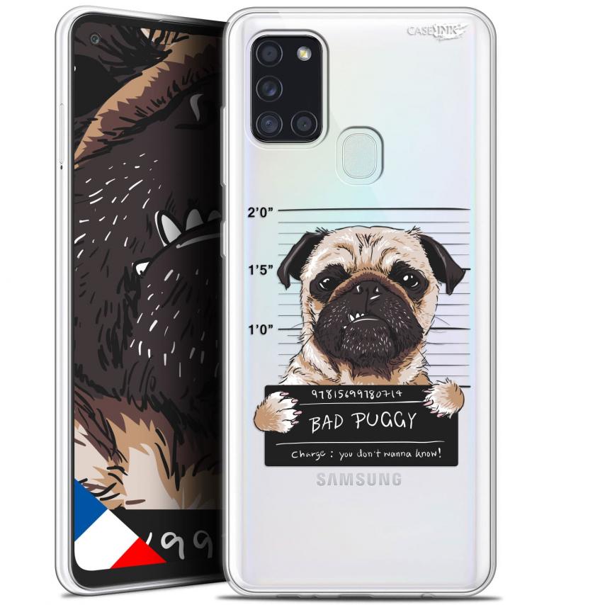 "Carcasa Gel Extra Fina Samsung Galaxy A21S (6.5"") Design Beware The Puggy Dog"
