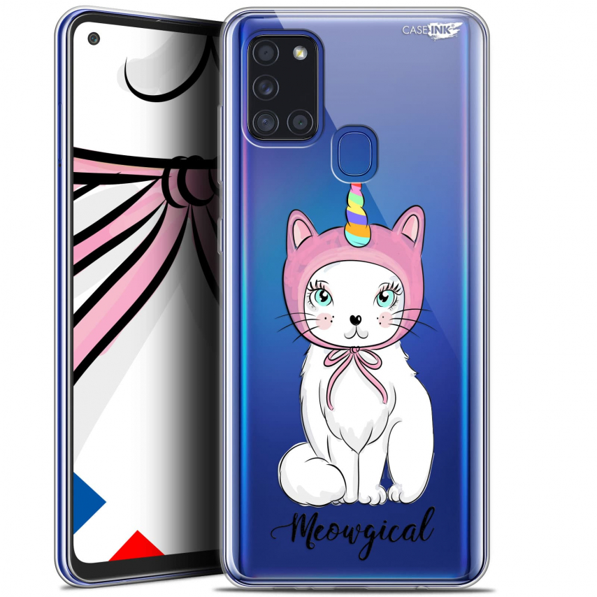 "Carcasa Gel Extra Fina Samsung Galaxy A21S (6.5"") Design Ce Chat Est MEOUgical"