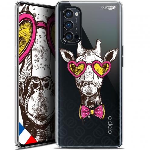 "Carcasa Gel Extra Fina Oppo Reno 4 Pro 5G (6.5"") Design Hipster Giraffe"