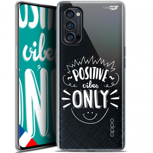 "Carcasa Gel Extra Fina Oppo Reno 4 Pro 5G (6.5"") Design Positive Vibes Only"