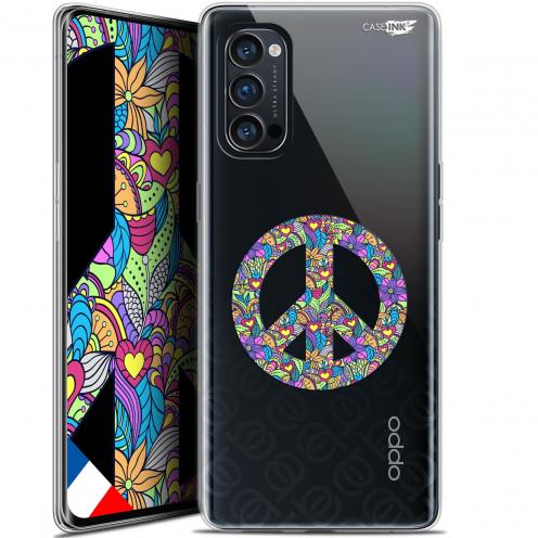 "Carcasa Gel Extra Fina Oppo Reno 4 Pro 5G (6.5"") Design Peace And Love"
