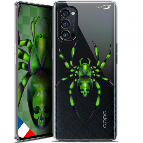 "Carcasa Gel Extra Fina Oppo Reno 4 Pro 5G (6.5"") Design Arraignée Verte"
