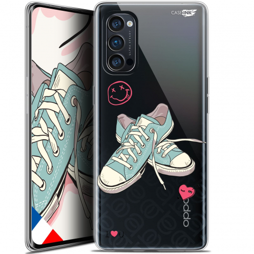 """Carcasa Gel Extra Fina Oppo Reno 4 Pro 5G (6.5"""") Design Mes Sneakers d'Amour"""