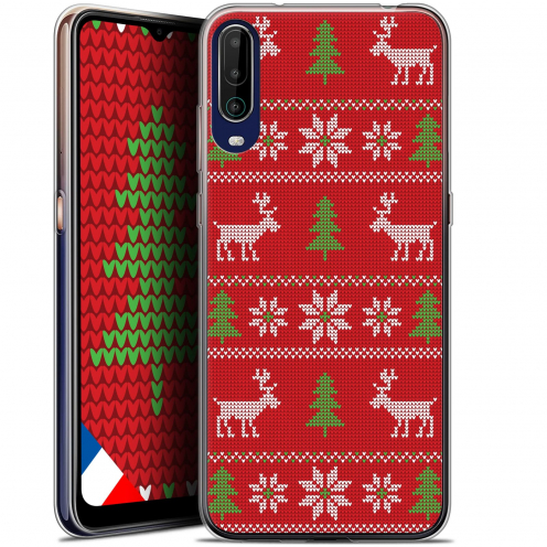 """Carcasa Gel Extra Fina Wiko View 4 (6.5"""") Noël 2017 Couture Rouge"""