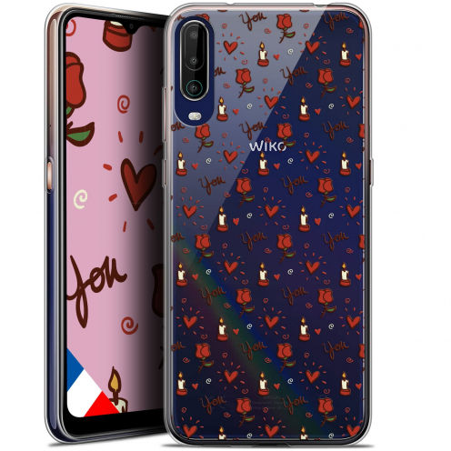 """Carcasa Gel Extra Fina Wiko View 4 (6.5"""") Love Bougies et Roses"""