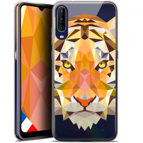"Carcasa Gel Extra Fina Wiko View 4 (6.5"") Polygon Animals Tigre"