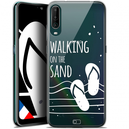 """Carcasa Gel Extra Fina Wiko View 4 (6.5"""") Summer Walking on the Sand"""