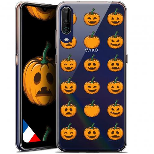 "Carcasa Gel Extra Fina Wiko View 4 (6.5"") Halloween Smiley Citrouille"
