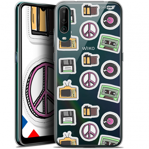 """Carcasa Gel Extra Fina Wiko View 4 (6.5"""") Design Vintage Stickers"""