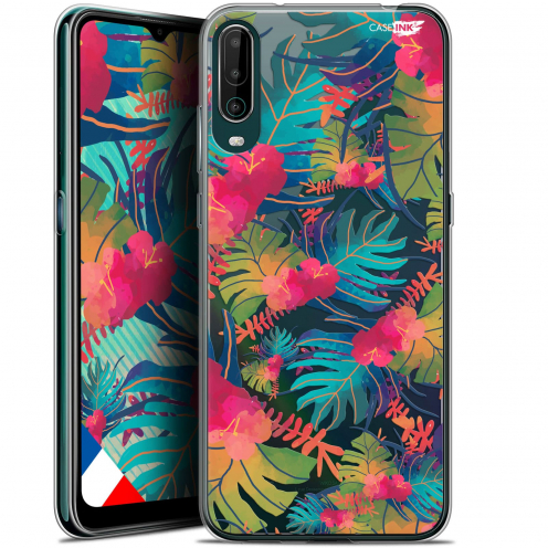 "Carcasa Gel Extra Fina Wiko View 4 (6.5"") Design Couleurs des Tropiques"