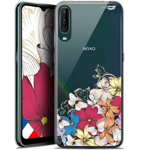 """Carcasa Gel Extra Fina Wiko View 4 (6.5"""") Design Nuage Floral"""