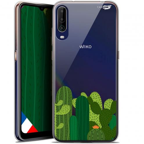 """Carcasa Gel Extra Fina Wiko View 4 (6.5"""") Design Cactus"""