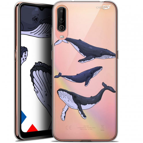 "Carcasa Gel Extra Fina Wiko View 4 (6.5"") Design Les 3 Baleines"