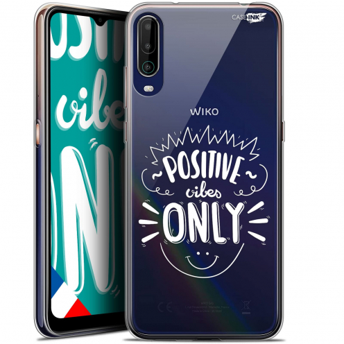 "Carcasa Gel Extra Fina Wiko View 4 (6.5"") Design Positive Vibes Only"