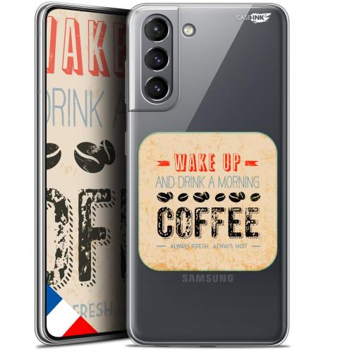 "Carcasa Gel Extra Fina Samsung Galaxy S21 (6.2"") Design Wake Up With Coffee"