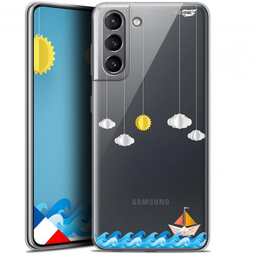 "Carcasa Gel Extra Fina Samsung Galaxy S21 (6.2"") Design Petit Bateau en Mer"