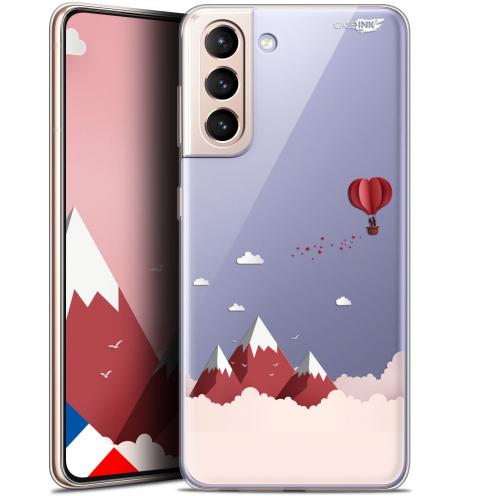 "Carcasa Gel Extra Fina Samsung Galaxy S21 (6.2"") Design Montagne En Montgolfière"