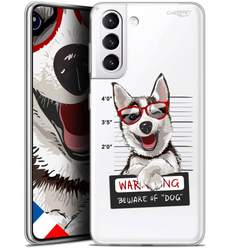 "Carcasa Gel Extra Fina Samsung Galaxy S21 (6.2"") Design Beware The Husky Dog"