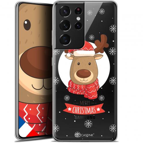 "Carcasa Gel Extra Fina Samsung Galaxy S21 Ultra (6.8"") Noël 2017 Cerf à Echarpe"