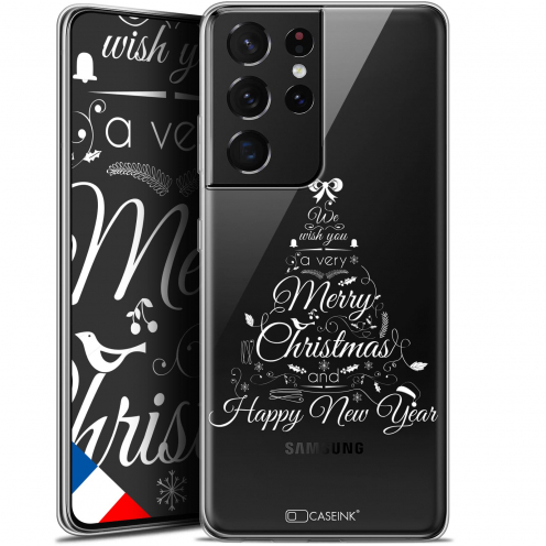 "Carcasa Gel Extra Fina Samsung Galaxy S21 Ultra (6.8"") Noël 2017 Calligraphie"